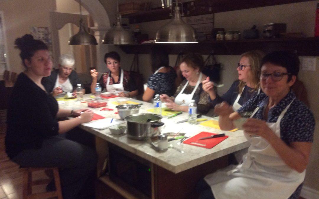 Cours de cuisine au Gîte Les Pignons